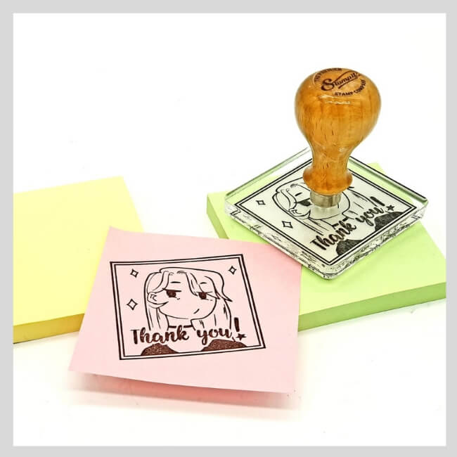 Square rubber stamps